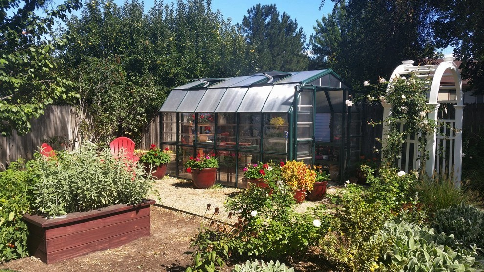 Country Style Garden/Greenhouse | The Garden Artist Boise, ID