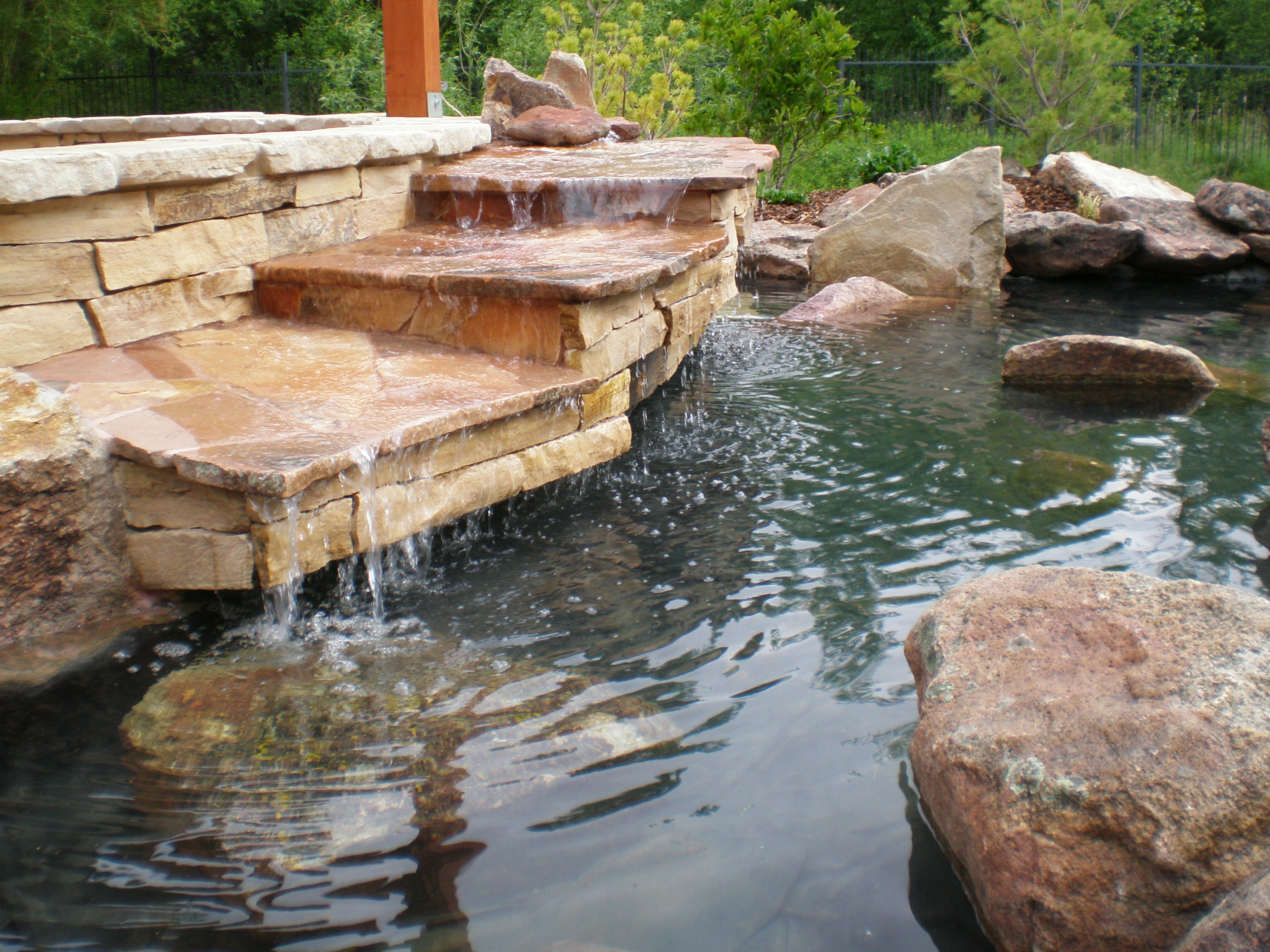 Custom Stepped Waterfall - 1 | The Garden Artist Boise, ID