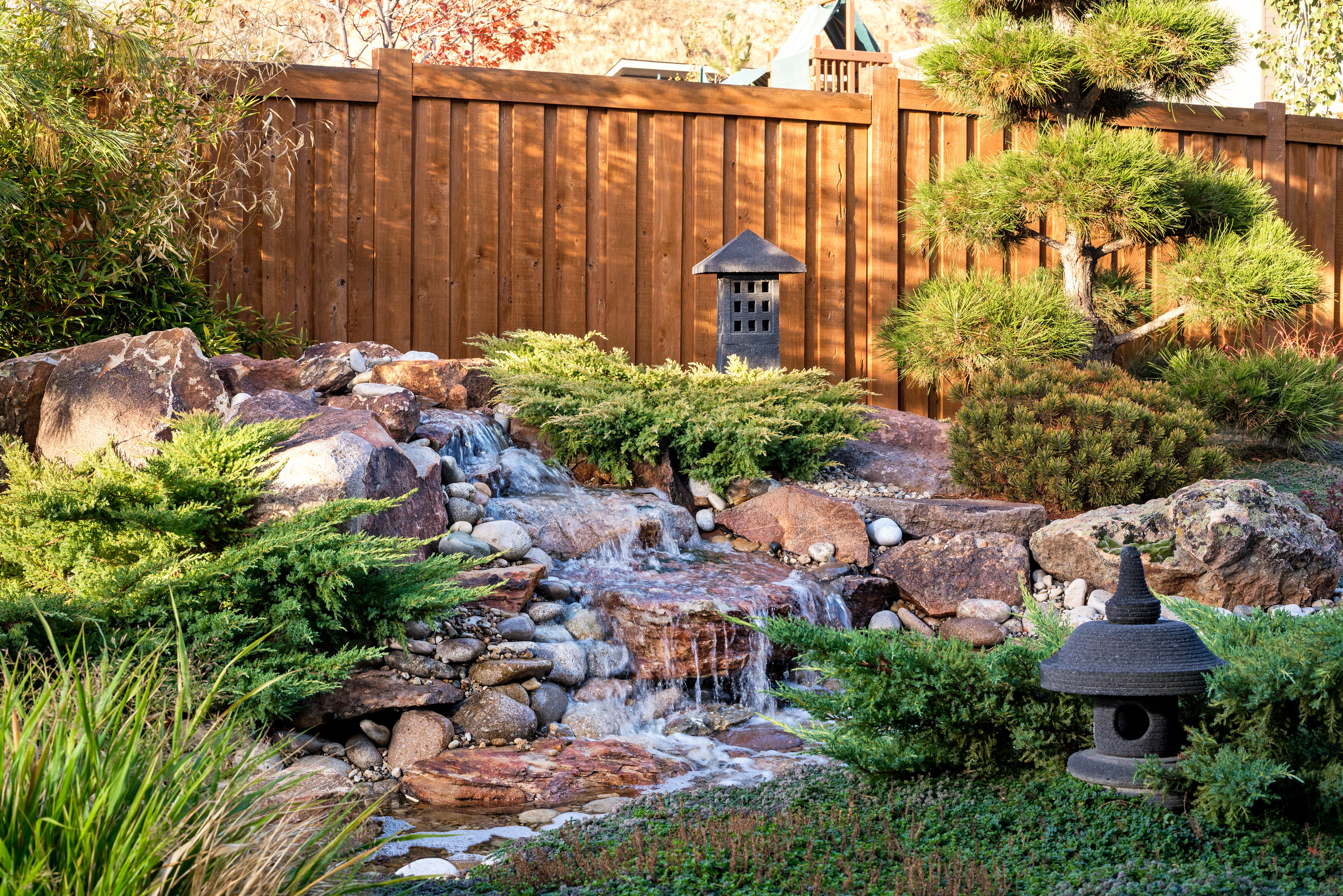 Asian Garden Waterfall