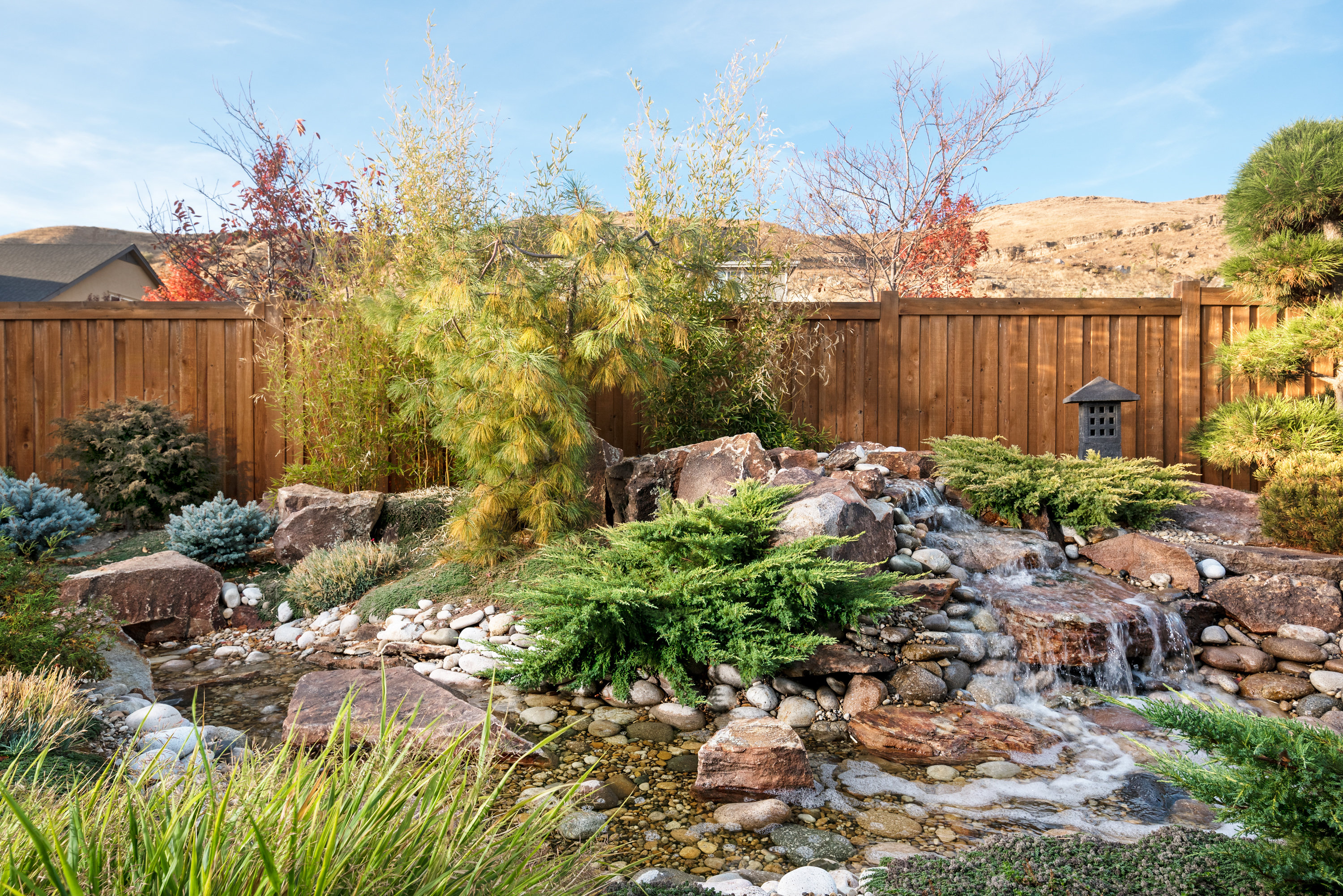 Natural Waterfall Custom Water Feature