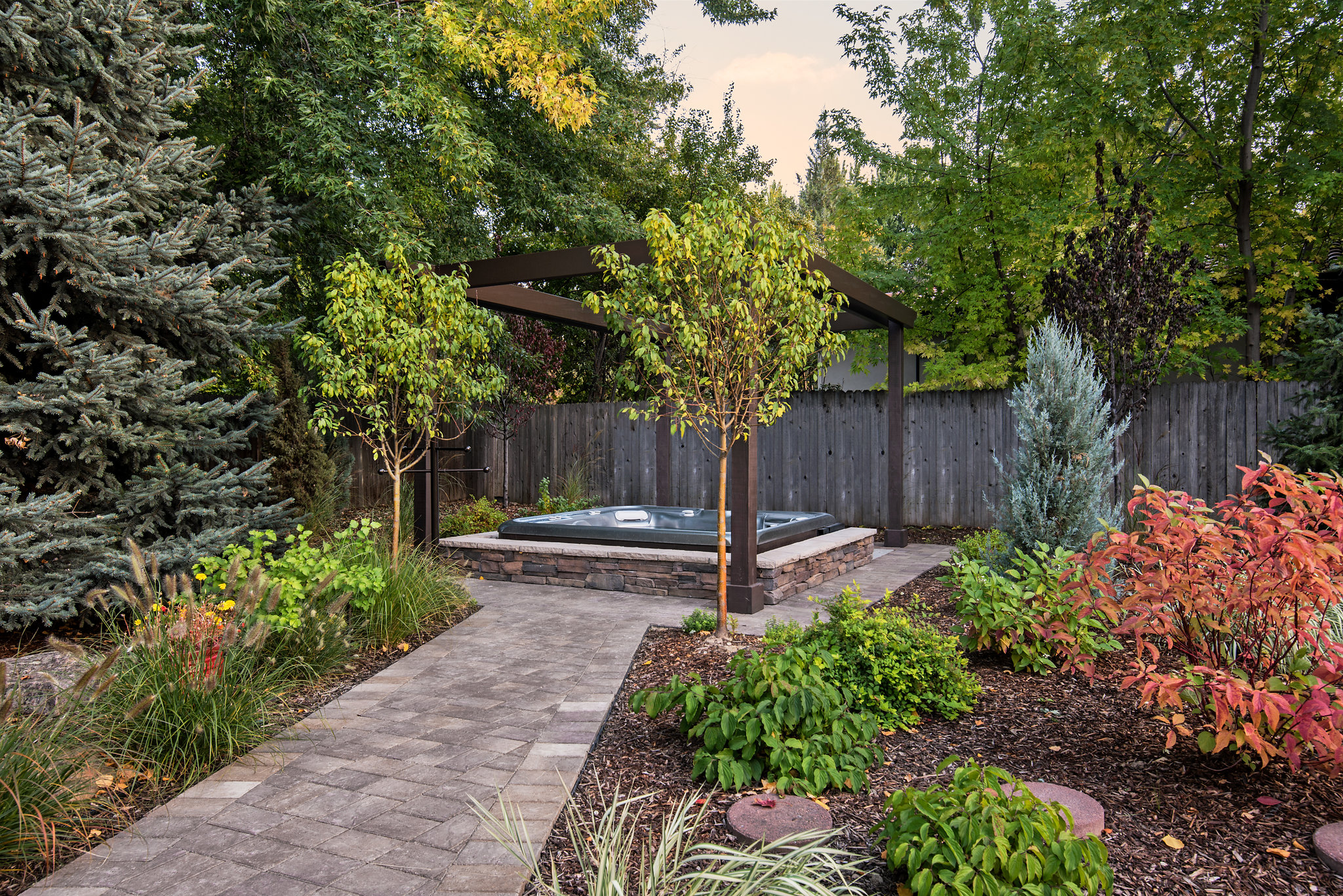 Holden Lane Pool/Spa Feature - 5 | The Garden Artist Boise, ID