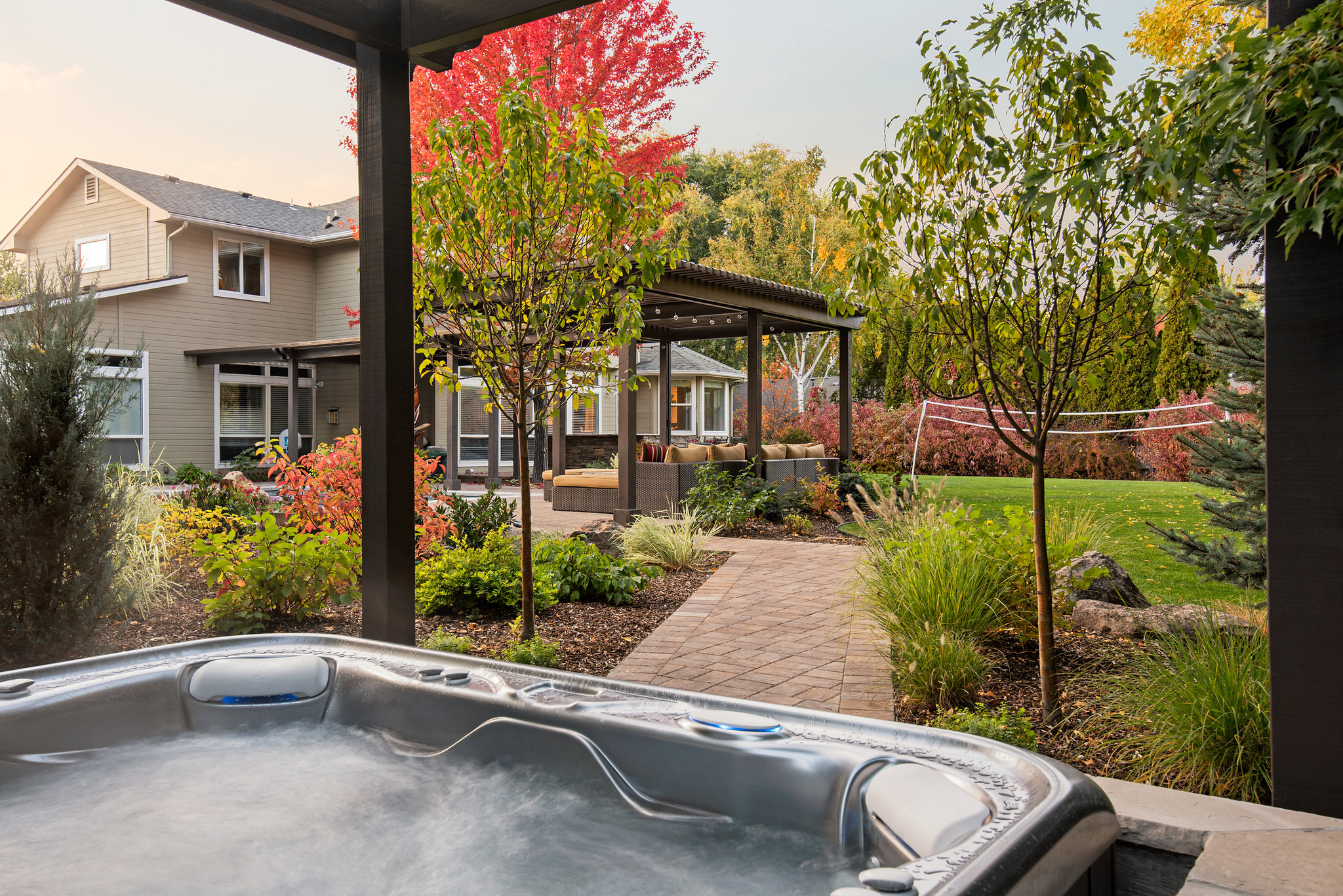 Holden Lane Pool/Spa Feature - 1 | The Garden Artist Boise, ID