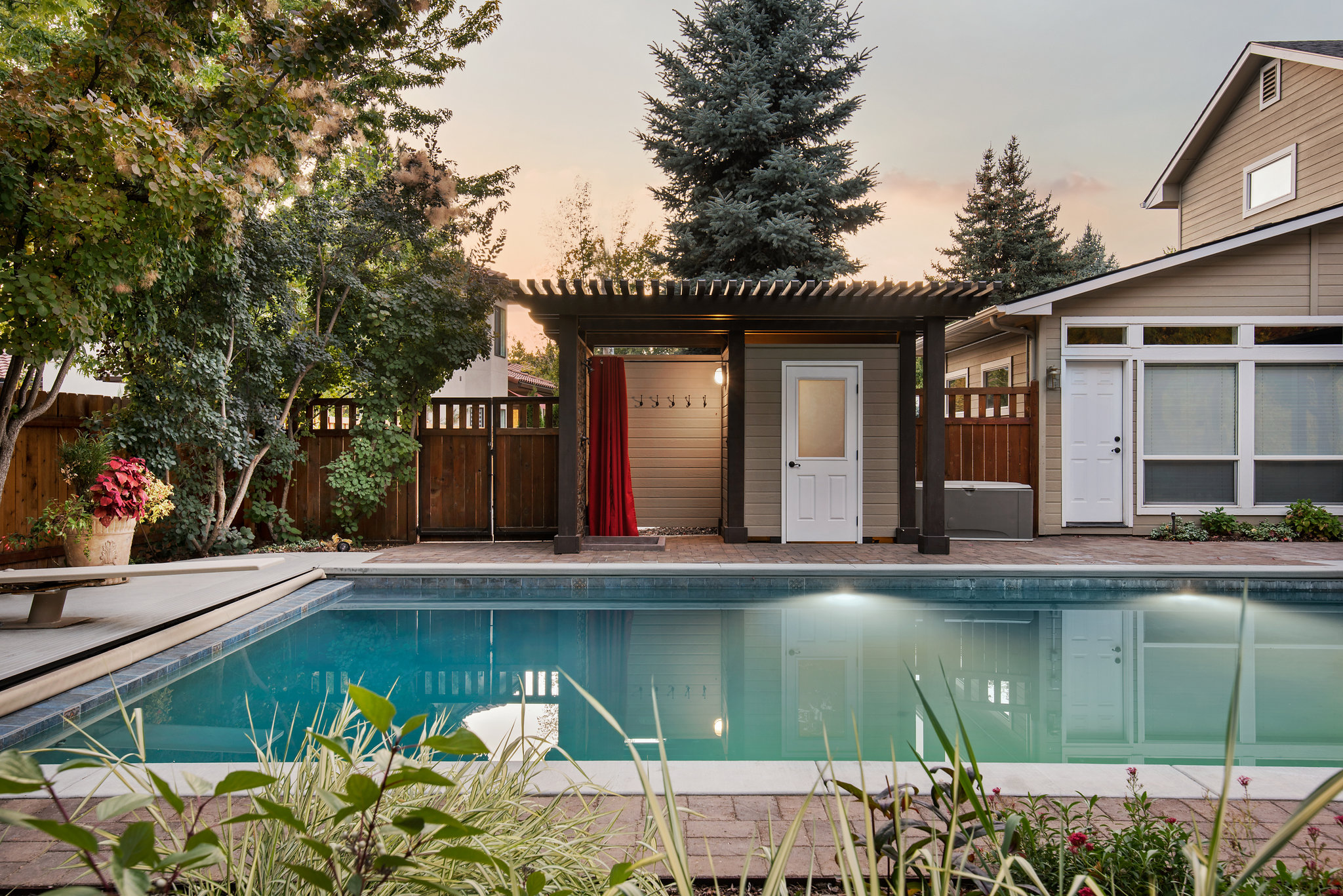 Holden Lane Pool/Spa Feature - 2 | The Garden Artist Boise, ID
