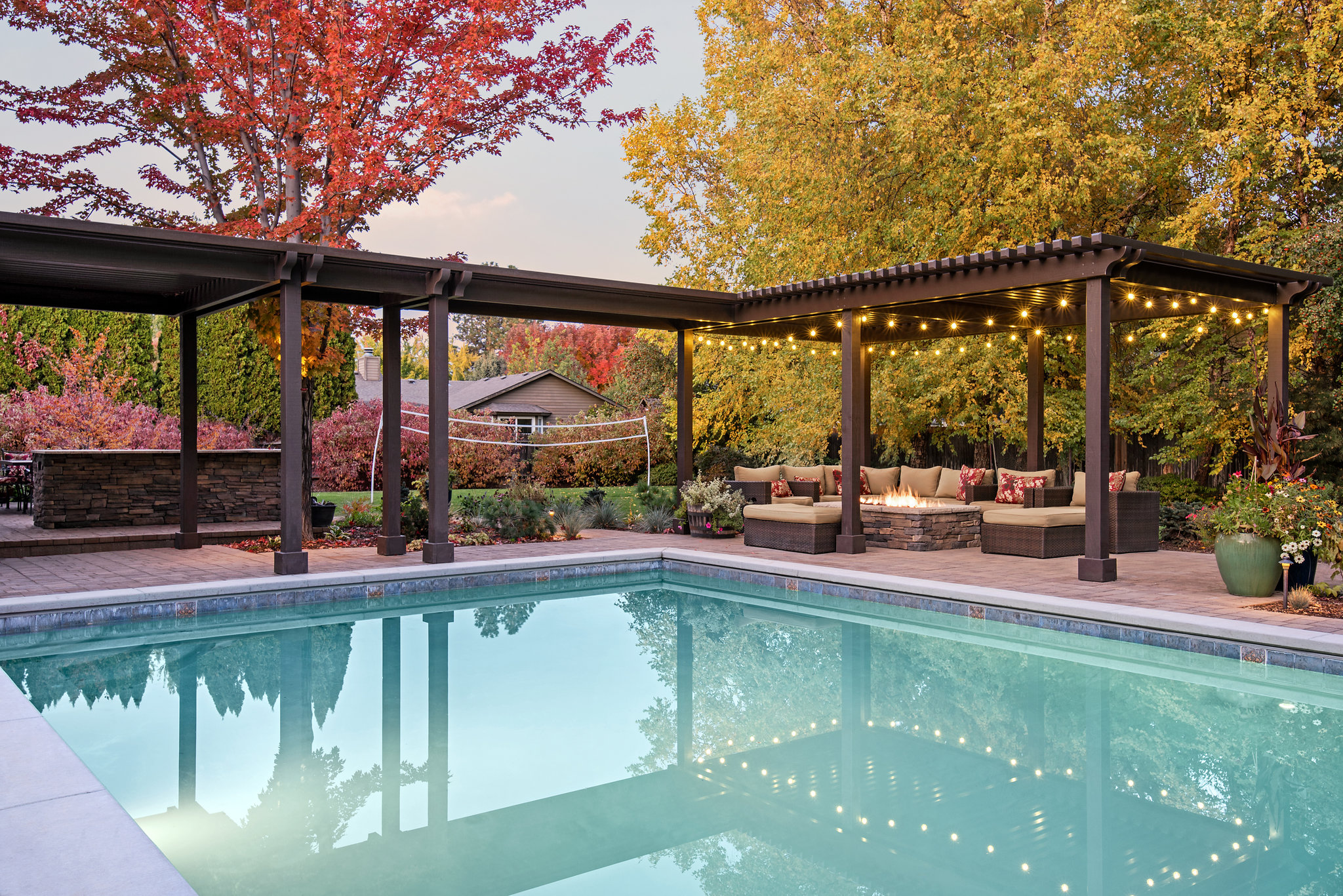 Holden Lane Pool/Spa Feature - 3 | The Garden Artist Boise, ID