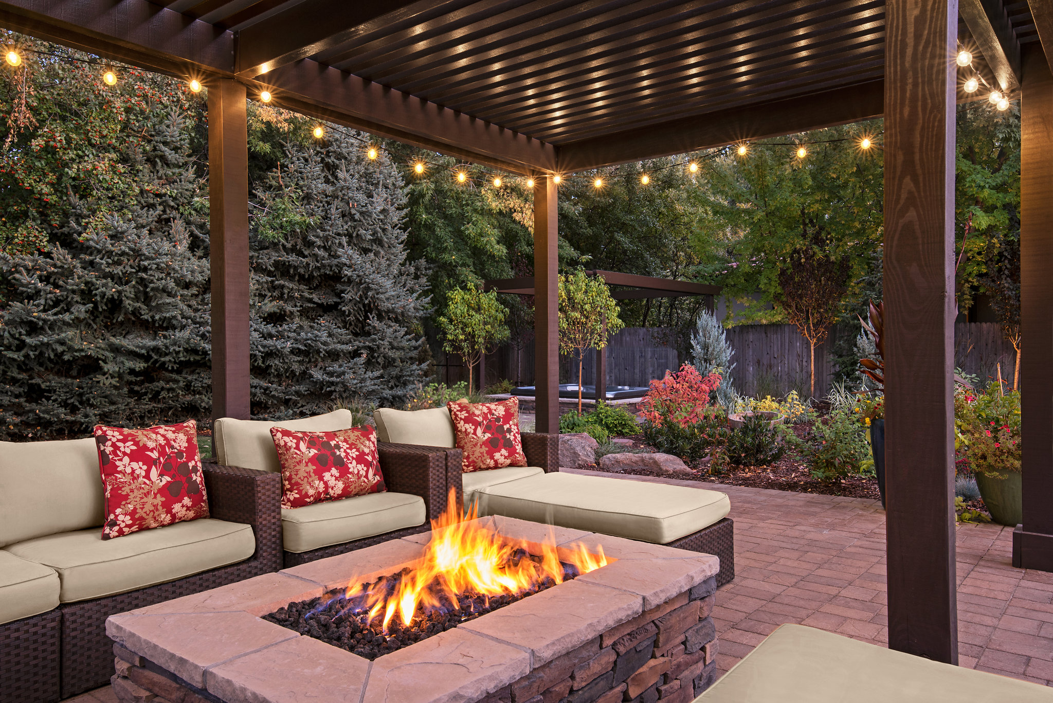 Holden Lane Pool/Spa Feature  | The Garden Artist Boise, ID
