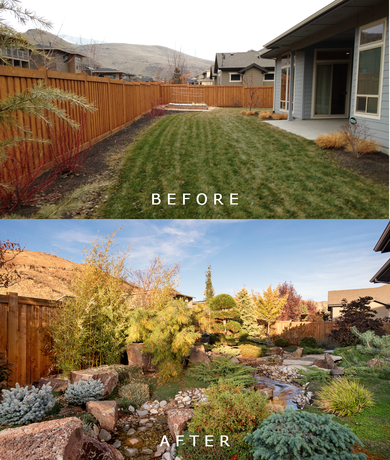 Hardesty Residence: Before/After | The Garden Artist Boise, ID