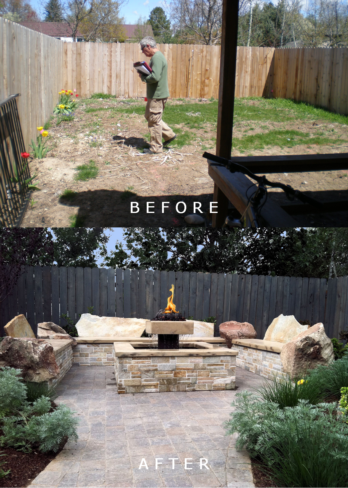Herring Residence: Before/After | The Garden Artist Boise, ID