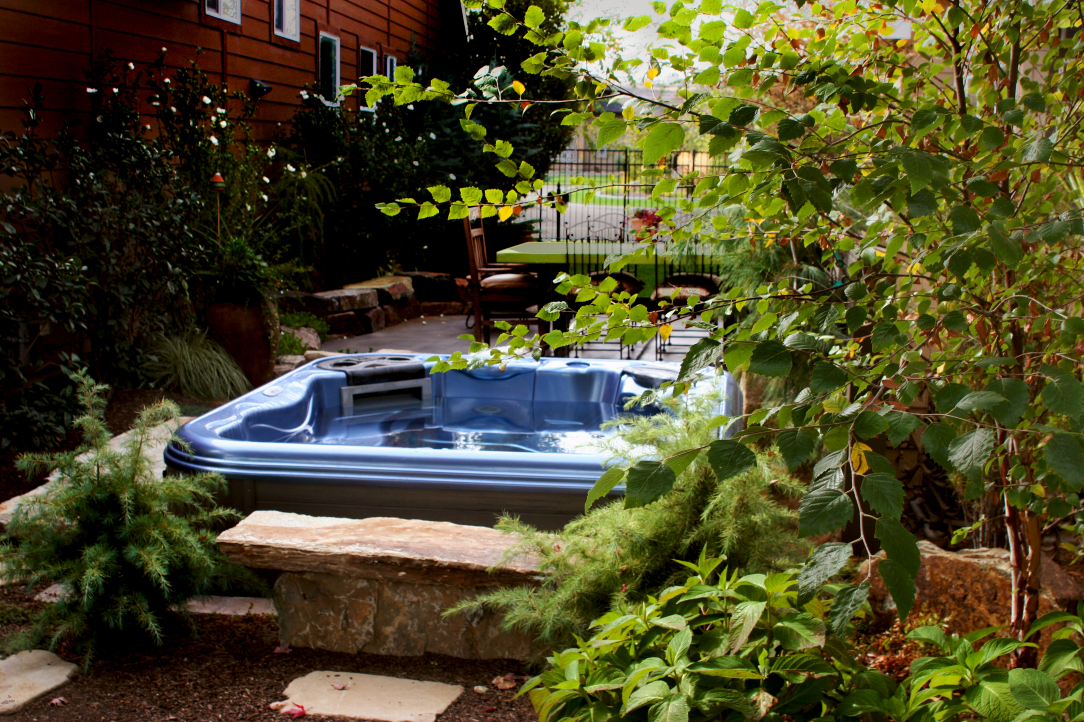 Intimate Spa Backyard Sanctuary - 1 | The Garden Artist Boise, ID