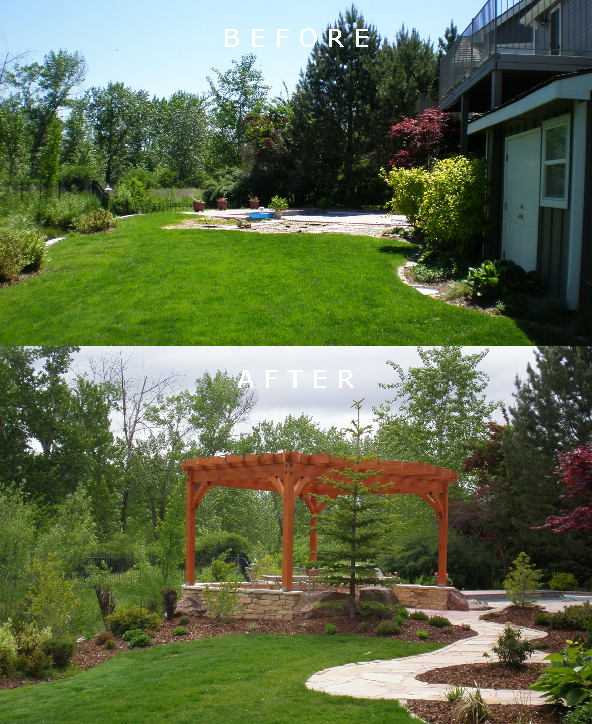 Meyers Residence: Before/After | The Garden Artist Boise, ID