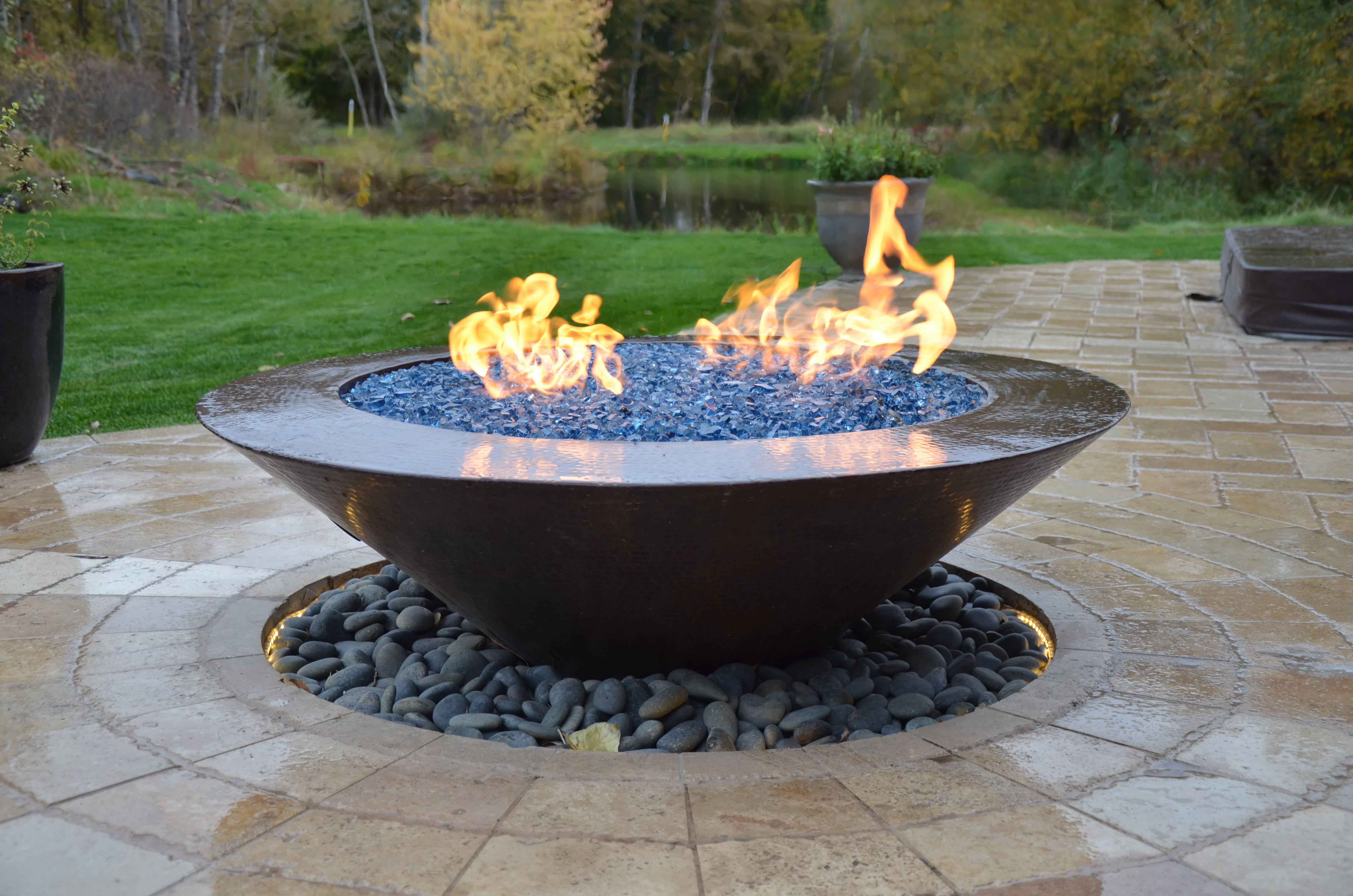Contemporary Fire Bowl | The Garden Artist Boise, ID