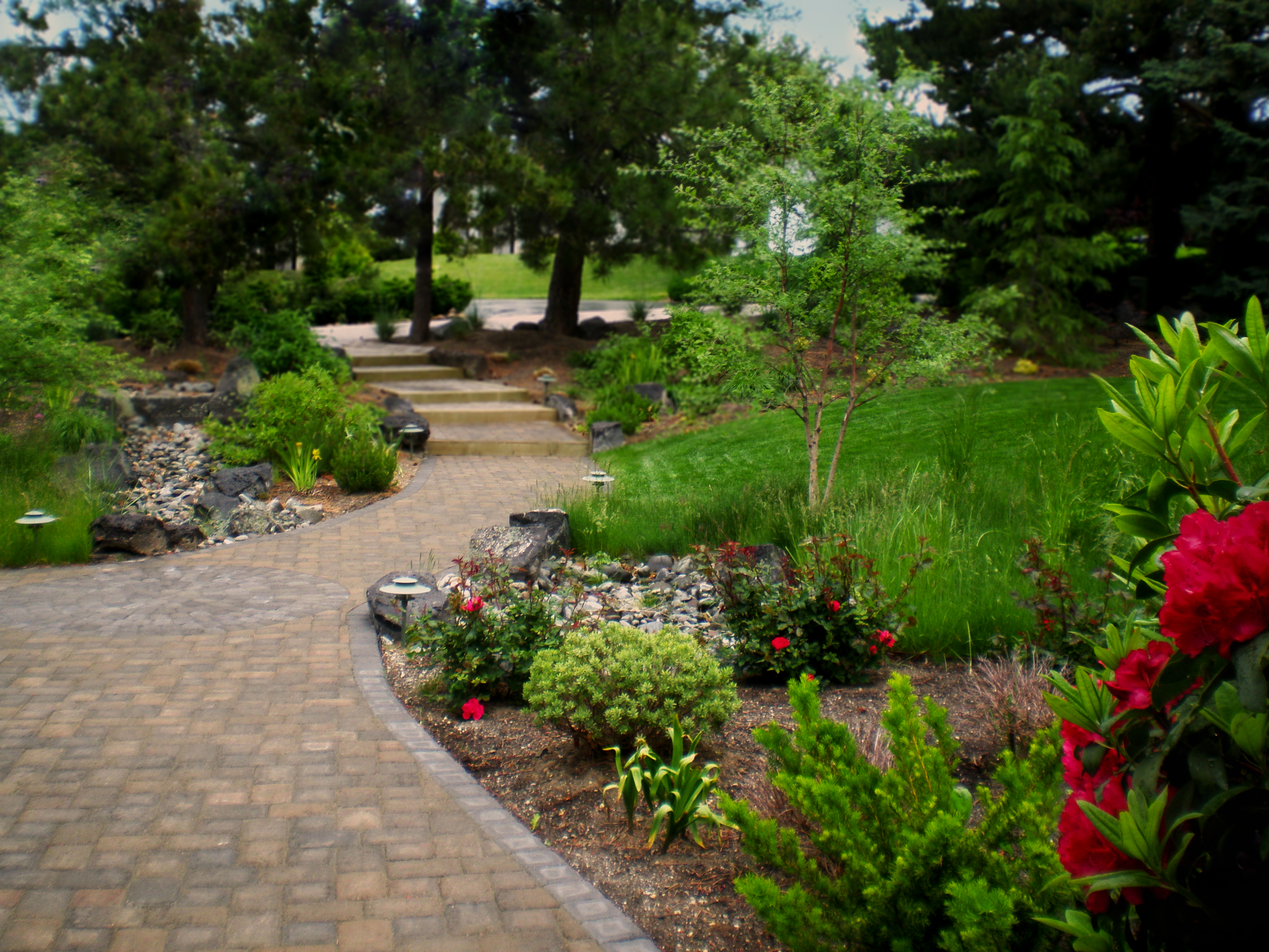 Romantic Path and Steps | The Garden Artist Boise, ID